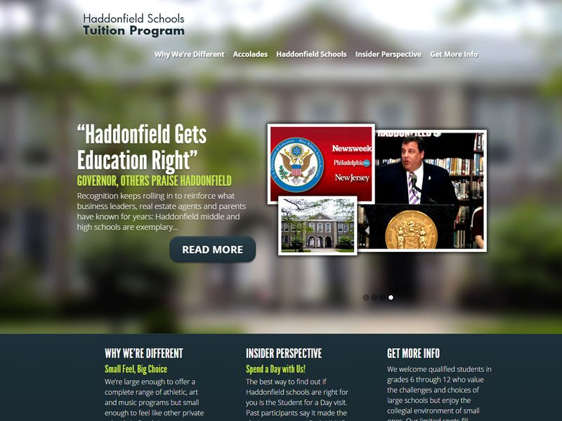 Haddonfield School Tuition Program